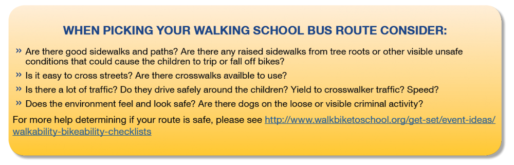 Walking School Bus Route Tips